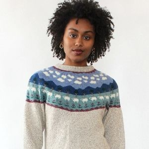 Vintage Counting Sheep Sweater